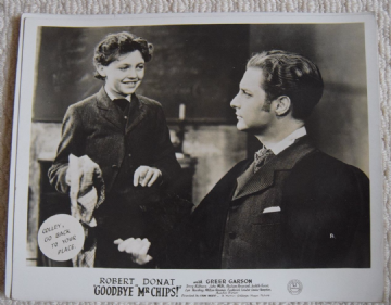 Goodbye Mr Chips, MGM FOH Still, Robert Donat, Greer Garson, '39 d